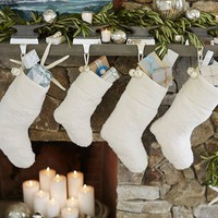 FAUX SHEEPSKIN STOCKING