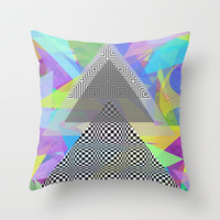 Geometric Mess Throw Pillow by DuckyB (Brandi)