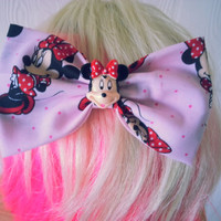 Minnie Mouse hair bow / classic Disney / girls hair bow / girls hair clip / Mickey Mouse / Gift Idea / Stocking Stuffer / fabric hair bow
