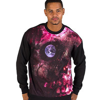 SKULL SPACE FLEECE - Black - LATHC