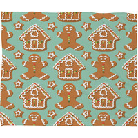 Sabine Reinhart Christmas Kitchen Fleece Throw Blanket