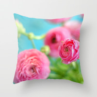 Pretty Little Dreams Throw Pillow by Lisa Argyropoulos