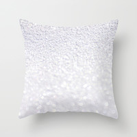 *** SPARKLING SNOWFLAKE ***  Throw Pillow by Monika Strigel