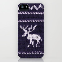 *** HAPPY ELK *** Scandinavian X-Mas iPhone & iPod Case by Monika Strigel