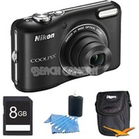 Nikon - Bundle COOLPIX L28 20.1 MP 5x Zoom Digital Camera - Black