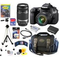 Canon - EOS 60D 18 MP CMOS Digital SLR Camera with EF-S 18-55mm f/3.5-5.6 IS Lens & EF-S 55-250mm