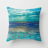 FANTA-SEA IN BLUE Throw Pillow by catspaws