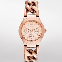 MULTI-FUNCTION CHAIN LINK BRACELET WATCH - ROSE