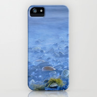 Green kelp on the rock iPhone & iPod Case by Guido Montañés