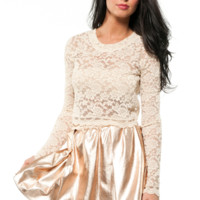 Cher Lace Crop Top