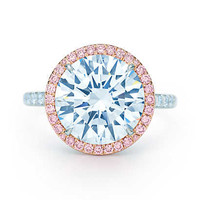 Tiffany & Co. - Tiffany Soleste® diamond ring in platinum with white and Fancy Pink diamonds.