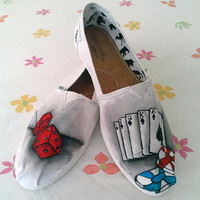 Dice'n'Cards Custom Shoes / HandPaint