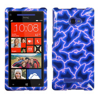 Protector Hard Case Cover Blue Lightning For HTC Windows Phone 8X Zenith 6990