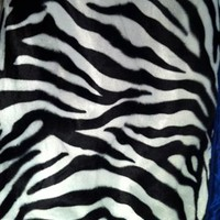 Rock Rebel Zebra with Blue Silk Trim Baby Blanket Kids Accessories at Broken Cherry