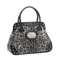 Rock Rebel Leopard Grey Handbag Accessories Purses at Broken Cherry