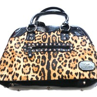 Rock Rebel Gold Leopard Purse Accessories Purses at Broken Cherry