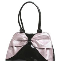 Lux de Ville Lady Lux Kisslock Black and Baby Pink Sparkle Accessories Purses at Broken Cherry