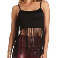 LONG FRINGE CROP TOP