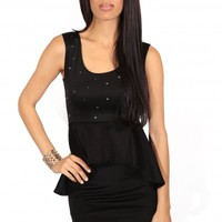 The Black Studs Peplum Dress - 29 N Under