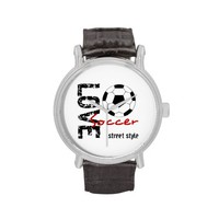 Zazzle Love Soccer Street Style Watch