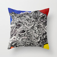 Pop Colors Throw Pillow by DuckyB (Brandi)