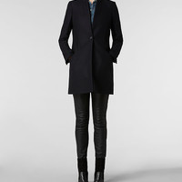 Womens Vita Wool Coat (Ink) | ALLSAINTS.com