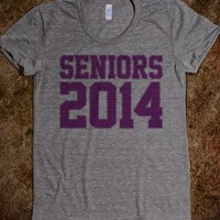 Varsity Seniors 2014 Outlined Purple Ink T-Shirt