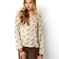 Papillon Sheer Printed Blouse - Last chance : Women's Apparel from $1 - Modnique.com