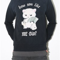 like meow sweatshirt black