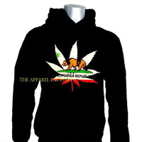 Men's California Weed Leaf Hoodie All size S-2XL
