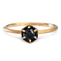 Catbird :: shop by category :: JEWELRY :: Rings :: Hexagon Ring, Black Diamond