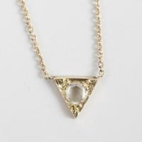 Catbird :: Hortense :: Small Arrowhead Necklace, 14k Yellow Gold