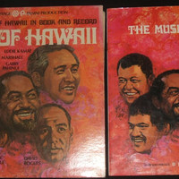 Folk Music Of Hawaii In Book And Record Sons of Hawaii 1971 Island Heritage Panini Productions KN1001 Stereo Vinyl LP Album Hawaiian Music