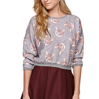 Understar Cat Cropped Crew Fleece at PacSun.com