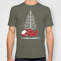 Happy Santa T-shirt by MadTee