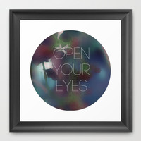 open your eyes Framed Art Print by austeja saffron
