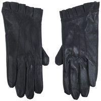 Real Leather Frill glove - Hats, Scarves & Gloves - Accessories