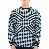 SIBLING CHEQUERED CREW TOP - MEN - TOPS - SIBLING - OPENING CEREMONY