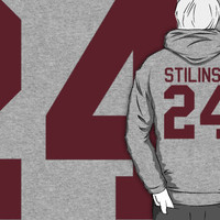 Stiles Stilinski's Jersey - maroon/red text T-Shirts & Hoodies