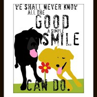 Black Labrador Yellow Labrador Dog Art Print Inspirational Art Dog Print Series 8 x 10