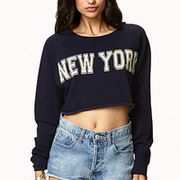 New York Cropped Sweatshirt