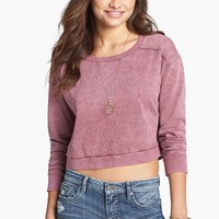 Rubbish® Faded Crop Sweatshirt (Juniors) | Nordstrom