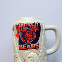 Vintage Chicago Bears Beer Stein 1980s