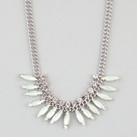 FULL TILT Facet Spray Statement Necklace