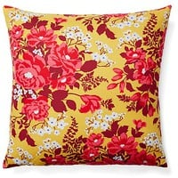 Floral 20x20 Cotton Pillow, Multi