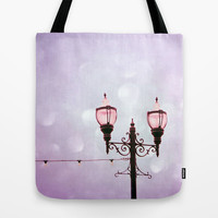 Lamplight of Cotton Candy Dreams Tote Bag by Lisa Argyropoulos