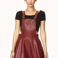 Secret Rebel Faux Leather Overall Dress