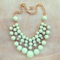MINT CHAI LATTE NECKLACE