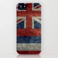 The State flag of Hawaii - Vintage version iPhone & iPod Case by LonestarDesigns2020 - Flags Designs +