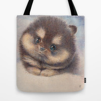 Pomeranian Tote Bag by irshi